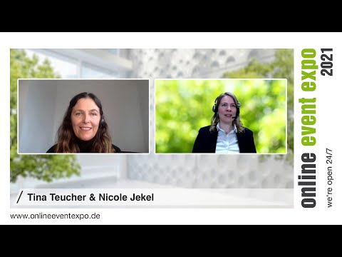 Expertentalk Tina Teucher und Nicole Jekel - online event expo 2021