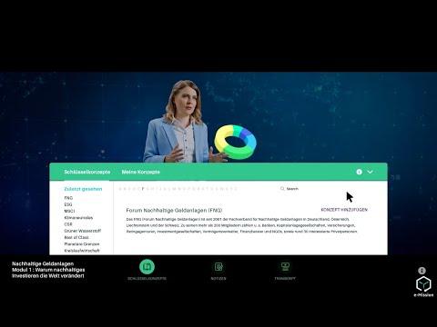 """Lernplattform """"e-Mission"""" für nachhaltige Geldanlagen - Teaser"""