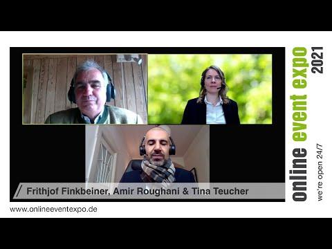 Expertentalk Frithjof Finkbeiner, Amir Roughani, Tina Teucher - online event expo 2021