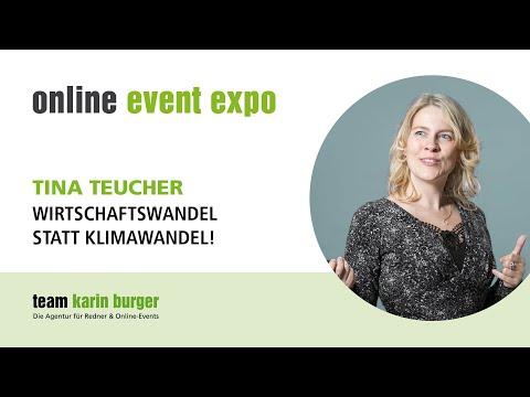 Vortrag Tina Teucher: Wirtschaftswandel statt Klimawandel! - online event expo 2021