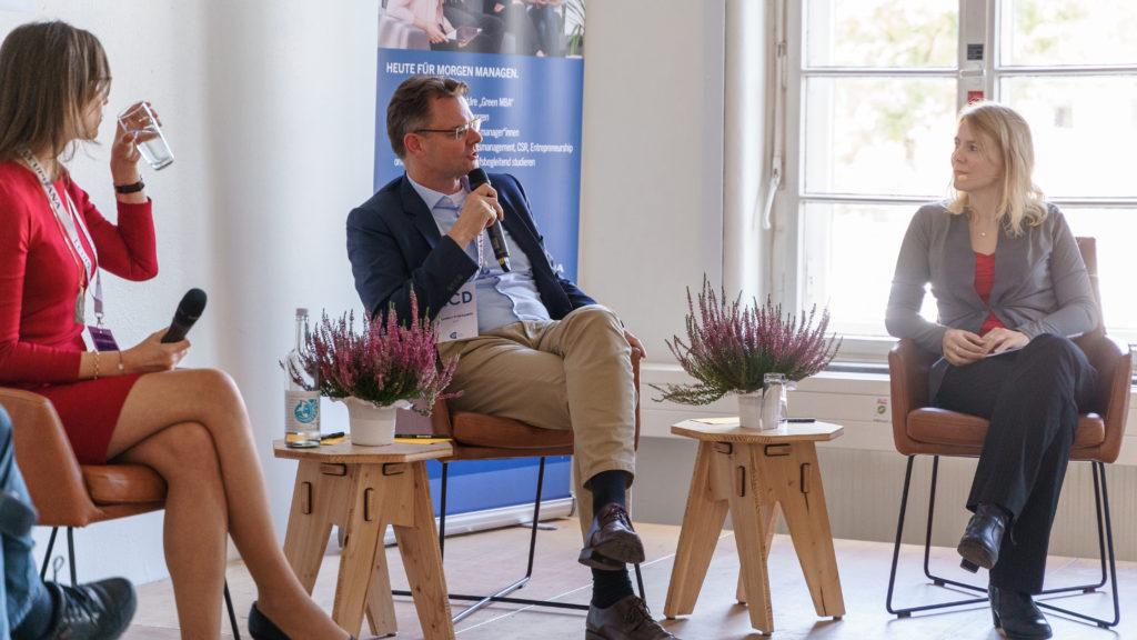 Was bedeuten die UN Nachhaltigkeitsziele (SDGs) für die Wirtschaft? Tina Teucher 17 Ziele Konferenz Leuphana Diskussion Thorsten Pinkepank (BASF SE), Dr. Saskia Juretzek (Allianz SE)