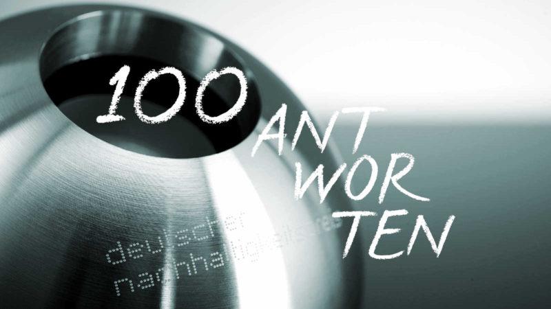 100 Antworten, Deutscher Nachhaltigkeitstag Nachhaltigkeitspreis, Innovation, Geschäftsmodelle Zukunft Tina Teucher