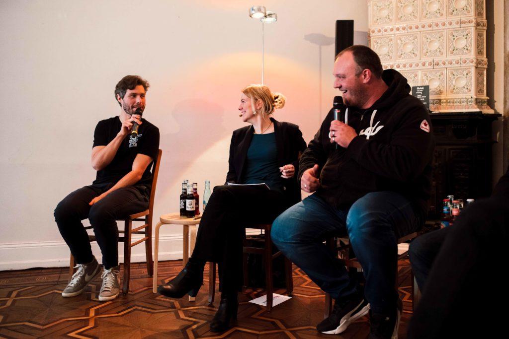Bjoern Knoop, Tina Teucher, Hans-Peter Kastner Eine Bewegung geht den Mehrweg Trink aus Glas fritz kola