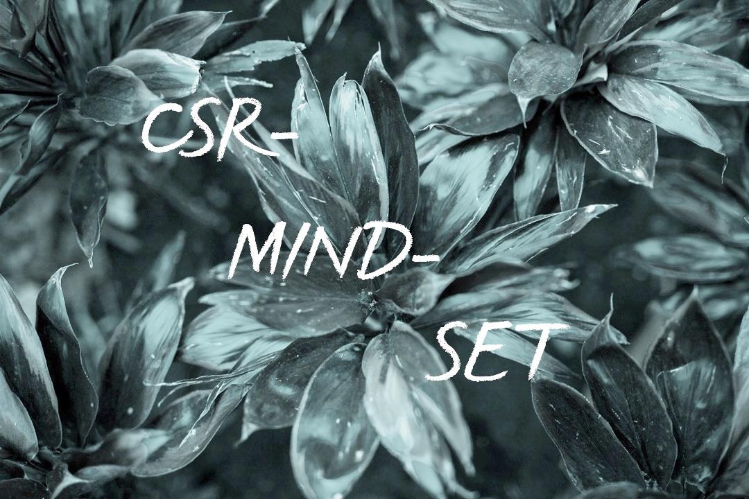 Blumen. Text: CSR-Mindset