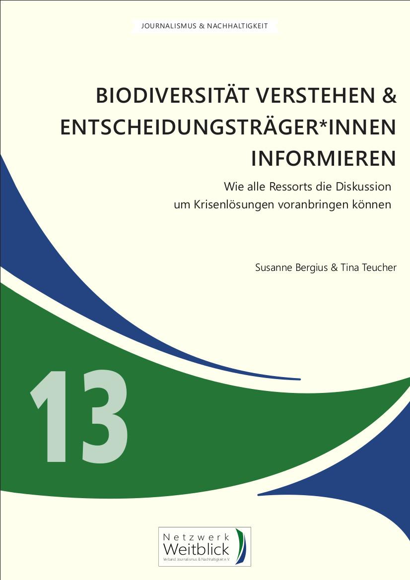 Cover Handbuch Biodiversität von Tina Teucher und Susanne Bergius, Netzwerk Weitblick, Band 13