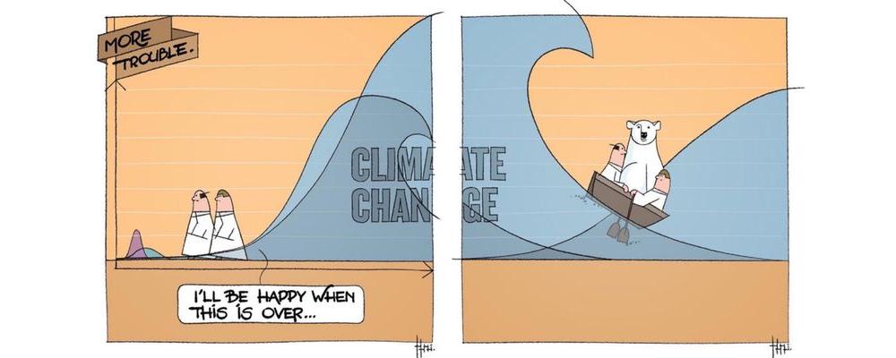 climate change Klimawandel schlägt große Wellen Covid-19 Corona-Pandemie Nachhaltigkeit